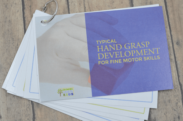 Typical Hand Grasp Development for Fine Motor Skills Printed Cards.