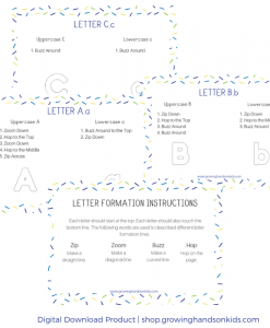 Letter Formation Direction Cards