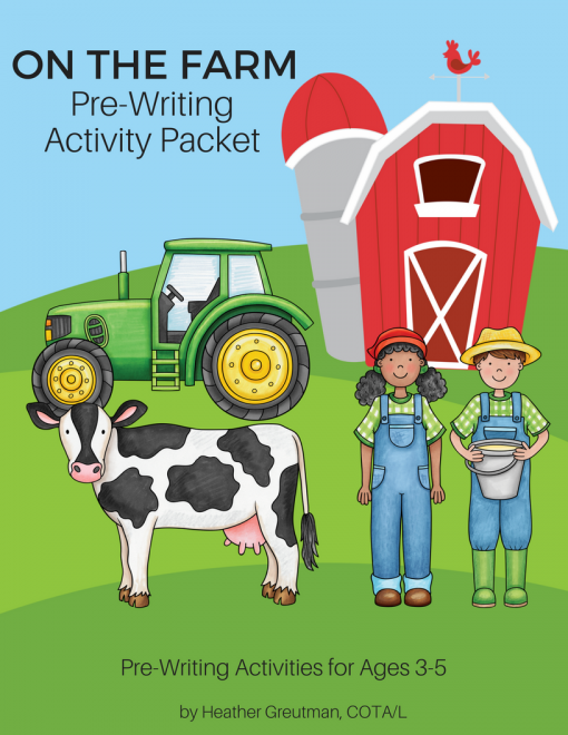On The Farm Pre-Writing Packet.