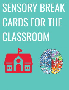 sensory break cards for the classroom.